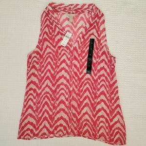 Banana Republic pink top size medium NWT